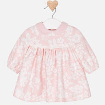 Mayoral Baby Girl Long Sleeve Dress With Flowers