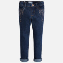 Mayoral Girl Long Denim Trousers with Rivets