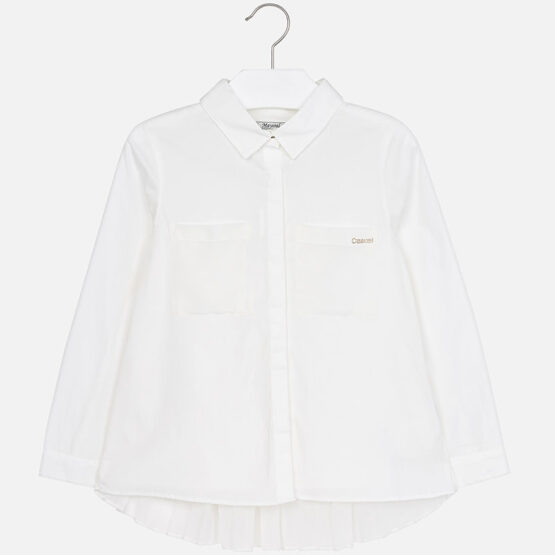 Mayoral Girl Long Sleeve Pleated Blouse