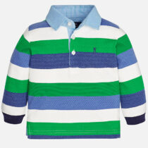 Mayoral Baby boy long sleeve polo shirt in jersey and jacquard