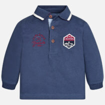 Mayoral Baby boy long sleeve polo shirt in rugby jersey