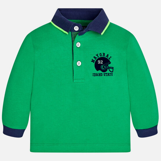 Mayoral Baby boy long sleeve rugby style polo shirt