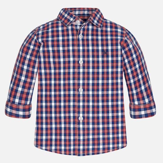Mayoral Baby boy checkered long sleeve shirt