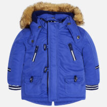 Mayoral Baby boy coat with faux fur hood