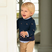 Mayoral Baby boy set of embroidered jumper and trousers