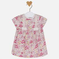 Baby girl short sleeve patterned dress