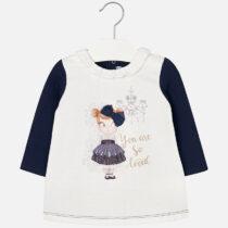 Baby girl long sleeve fleece dress
