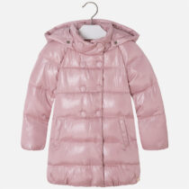 Girl pink sparkly padded coat