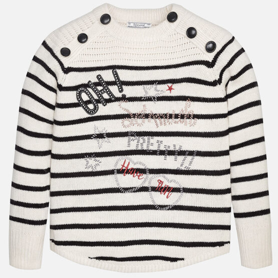 Girl striped knit jumper
