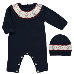 Emile et Rose Lennox Fairslie Knit All in One with Hat