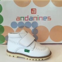 Andanines Boys White Shoe