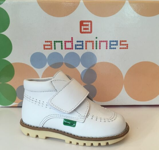 Andanines Boys White Shoe