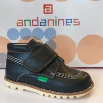 Andanine Navy Leater Boot 152456