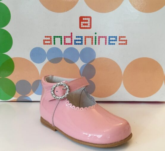 Andanine pink patent leather shoe