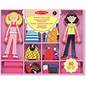 Melissa and Doug Wooden Magnetic Dress up Abby and emma