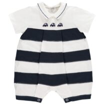 Emile et Rose Monty Striped Car Romper