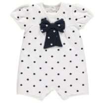 Emile et Rose Marylin Spot Romper with Bow