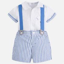 Mayoral Shirt and Striped Shorts Set