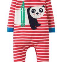 Frugi Organic Panda Charlie Romper