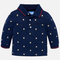 Mayoral Long Sleeve Patterned Polo 2108