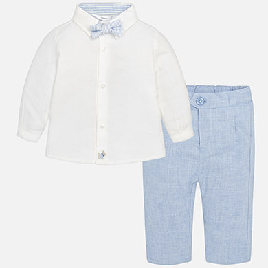 Mayoral Baby Boy Trousers, Shirt and Bowtie Set 2532