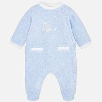 Mayoral Baby Boy Velour Star Patterned Pyjamas 2726