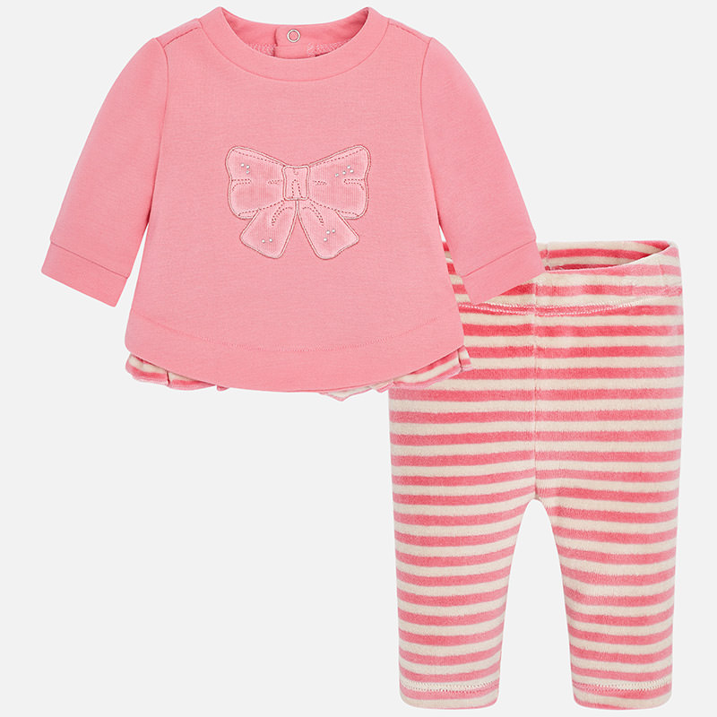 f7d6a7e71b376 Mayoral Baby Girl Striped Leggings Set - Childrens Clothes Shop Glasgow