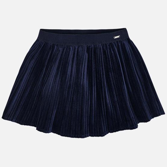 Mayoral Velvet Pleated Skirt 4920