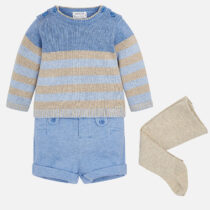 Mayoral Baby Boy Jumper, Shorts and Tights Set 2206