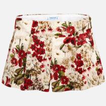 Mayoral Velvet Floral Shorts 4200