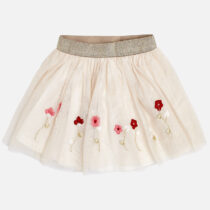 Mayoral Embroidered Tulle Skirt 4904