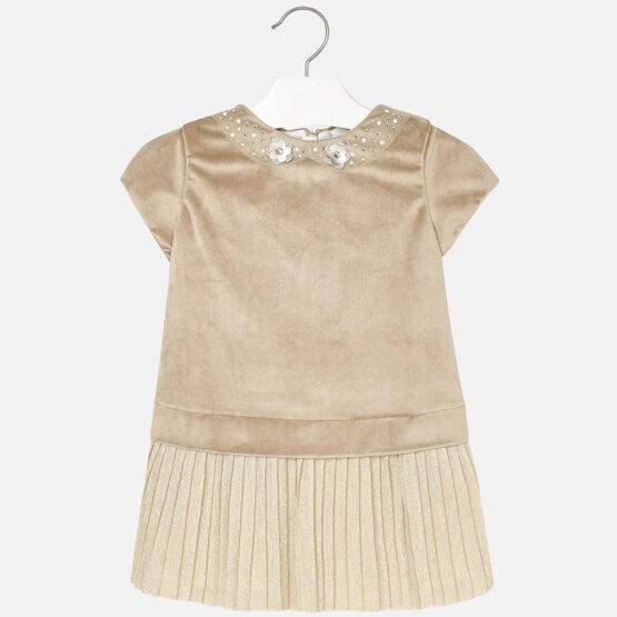 Mayoral Velvet Mix Dress 4940