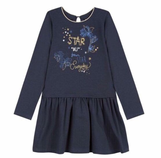 3 Pommes Navy Star Dress