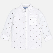 Mayoral Long Sleeve Patterned Shirt 4140