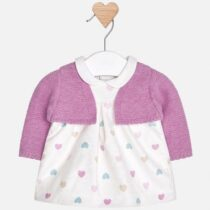 Mayoral Baby Girl Dress with Contrast Cardigan 2814