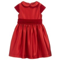 Patachou Red Satin Dress