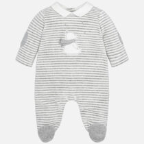 Mayoral Baby Boy Striped Velour Pyjamas 2720