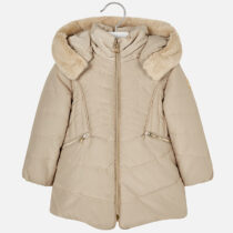 Mayoral Coat with Faux Fur Hood 4437