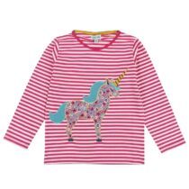 Lilly and Sid Unicorn Applique Top