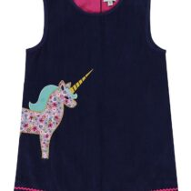 Lilly and Sid Unicorn Applique Pinafore