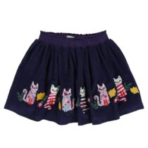 Lilly and Sid Applique Hem Cord Skirt