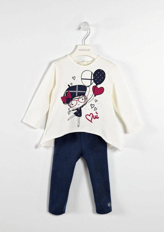 Sarabanda Maxi A line T shirt and Glitter leggings