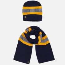 Mayoral Striped Beanie and Scarf Set 10483