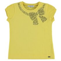 Mayoral Girls Short Sleeve T-Shirt with Bow 174