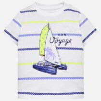 Mayoral Short Sleeved Boat Print T-shirt 1018