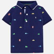 Mayoral Short Sleeved Patterned Polo Shirt 1118