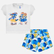 Mayoral Patterned T-shirt and Bermuda Shorts Set 1235