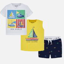 Mayoral Boat Print T-shirt and Shorts Set 1642