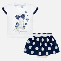 Mayoral T-Shirt and Polka Dot Skirt Set 1949