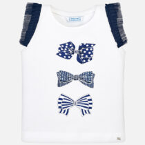 Mayoral Sleeveless T-shirt with Bows 3021